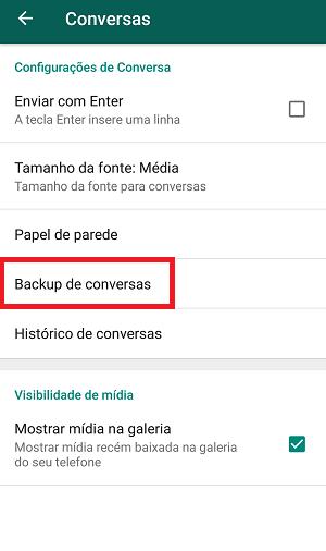 backup do whatsapp