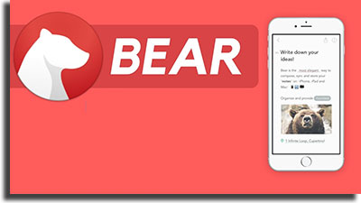 bear note apps