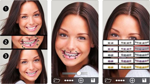 Aplicativos esquisitos de câmera Brace Face