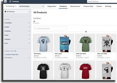Instagram Shopping Catálogo Facebook