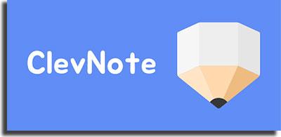 aplicativos para fazer anotações ClevNote