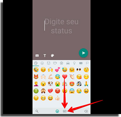colocar áudio no status do whatsapp gif