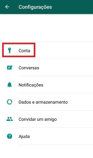 configurações do whatsapp