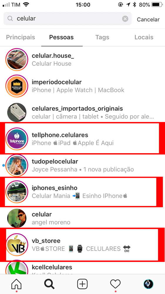 emoji na biografia do Instagram