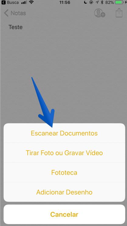 escanear documentos iphone