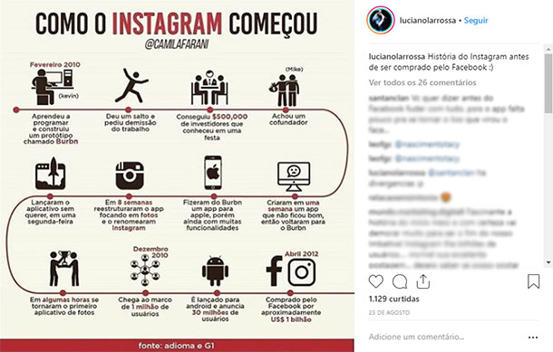 Ideias de posts para Instagram Histórias