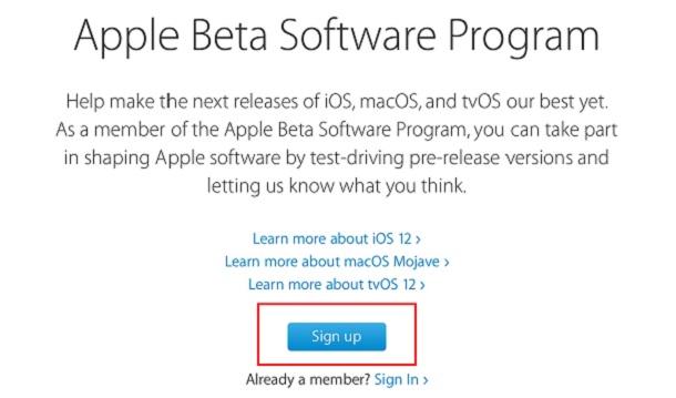 instalar o iOS 12