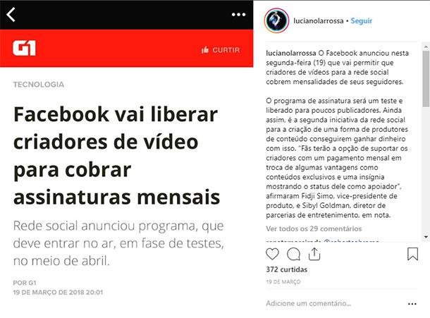 Ideias de posts para Instagram Notícias