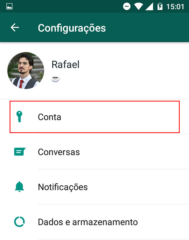 Como tirar o online do WhatsApp Passo 3