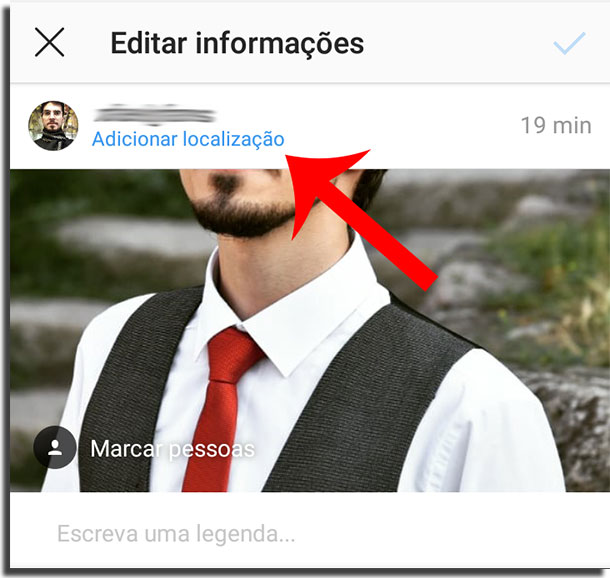criar uma localização no Instagram passo 2 editar