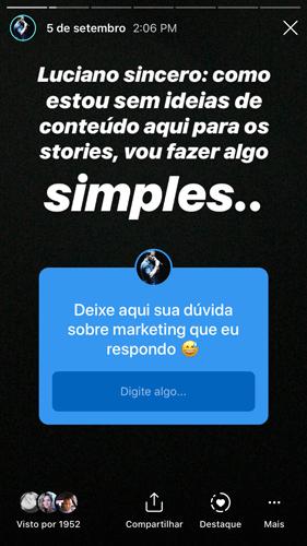 perguntas ideias de conteudo Instagram