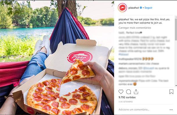 Ideias de posts para Instagram Pizza Hut