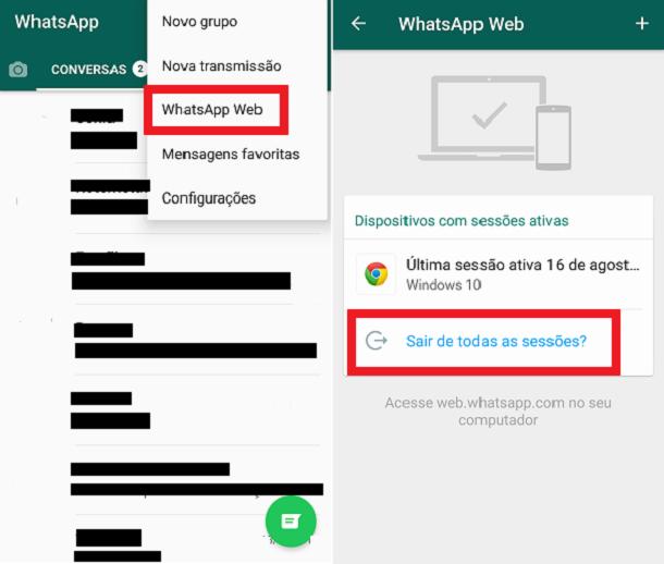 bloquear o whatsapp clonado