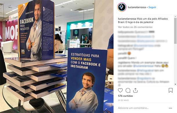 Ideias de posts para Instagram Produto Livro Luciano Larrossa
