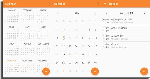 aplicativos de calendário simple calendar