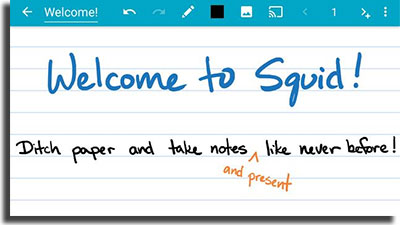 aplicativos para fazer anotações Squid