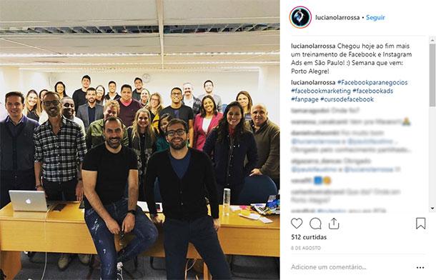 Ideias de posts para Instagram Treinamento Luciano Larrossa