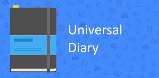 Aplicativos para usar como diário Universal Diary