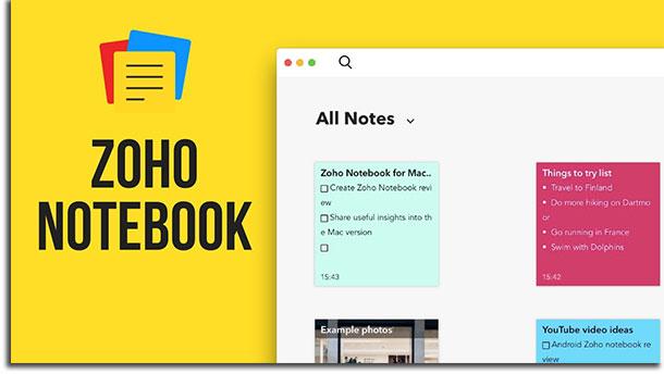 apps de anotações zoho notebook