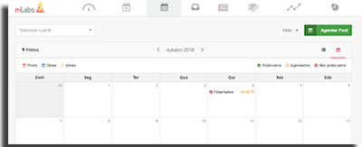 gerenciar midias sociais mlabs calendariovisualizacao