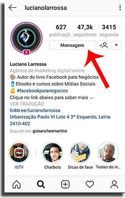 Como mandar Direct no Instagram acessando direct 2