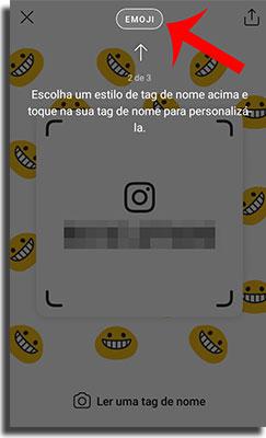 tag de nome no instagram customizando aparência