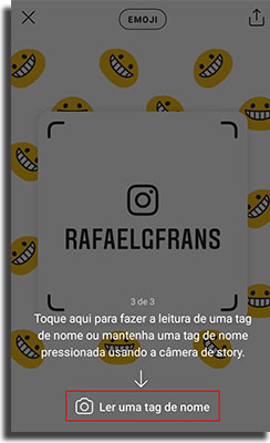 tag de nome no instagram escaneando