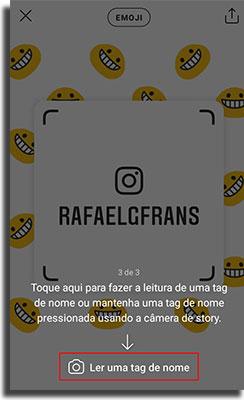 tag de nome no instagram escaneando