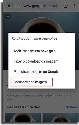 enviar fotos pelo WhatsApp compartilhar navegador 2