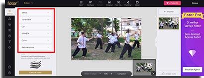 sites para fazer montagens online fotor edicao