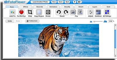 sites para fazer montagens online fotoflexer