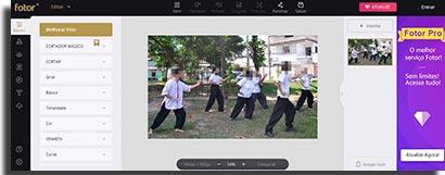 sites para fazer montagens online fotor