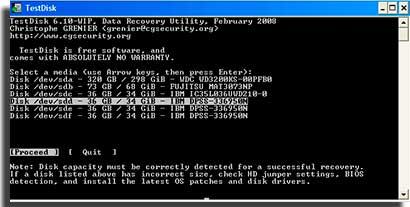 aplicativos para recuperar arquivos testdisk