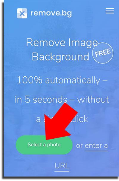 remover o fundo das suas imagens celular select a photo