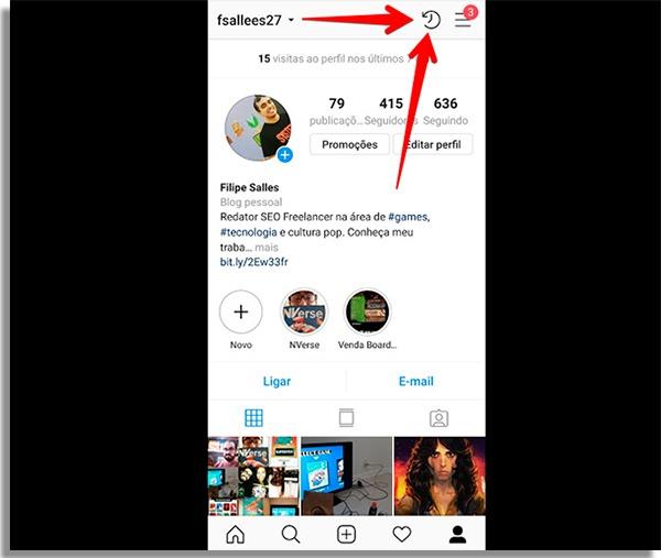como compartilhar lembrancas no instagram stories relogio