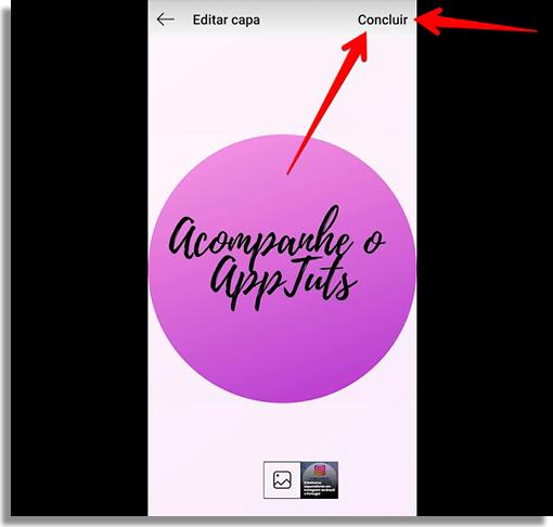 como criar capas de destaque no instagram fim