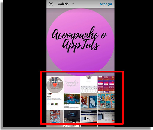 como criar capas de destaque no instagram selecionarcapa