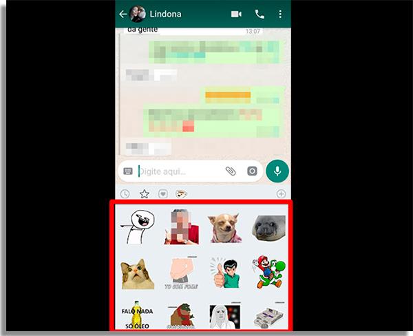 como enviar figurinhas no whatsapp enviar