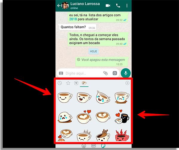 como enviar figurinhas no whatsapp figurinhas