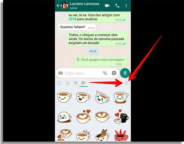 como enviar figurinhas no whatsapp mais