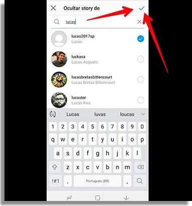 como esconder o story do instagram confirmar2