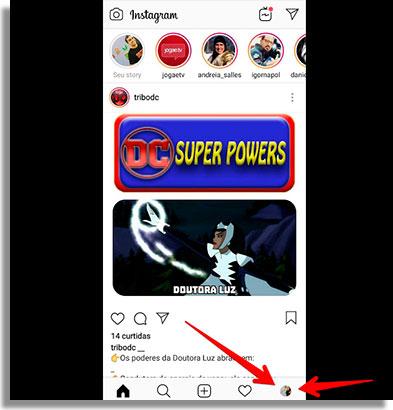 como esconder o story do instagram inicio2