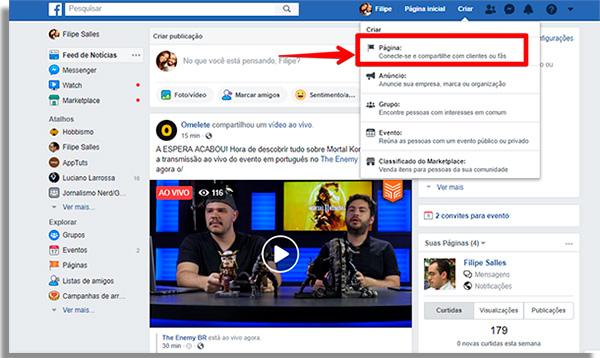 como ganhar dinheiro no facebook criarpagina
