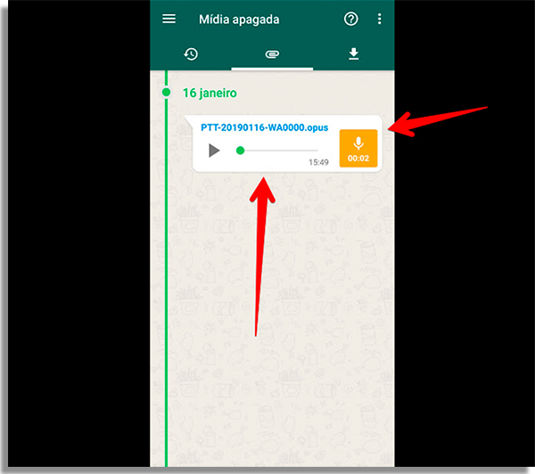 como recuperar áudios apagados do whatsapp audio