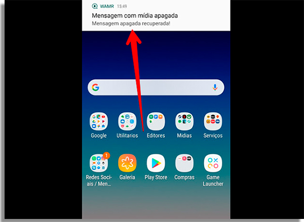 como recuperar áudios apagados do whatsapp notificacao