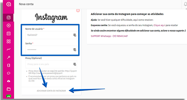 como usar o simplegram loginstagram