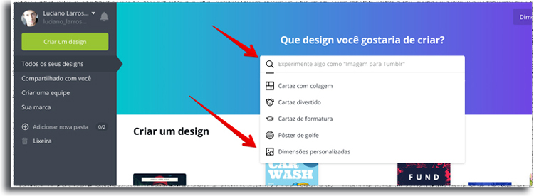criando capa de destaque do Instagram no canva