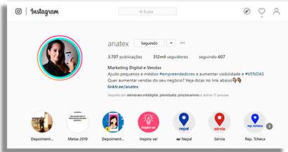 especialistas em instagram ana