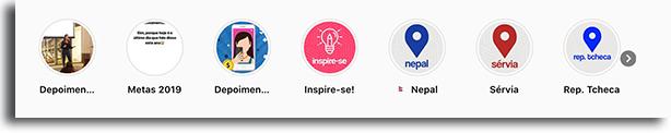 exemplos de capas de destaque de Instagram prontas