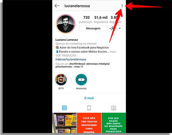 dicas para instagram menu